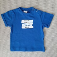 Новая хлопковая синяя футболка , для мальчика 6 мес.