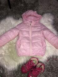 Курточка для девочки с ушками на рост 104 см
