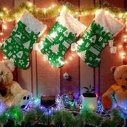 Новорічний носок для подарунків, декор