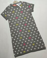 Серое теплое двойное платье Idexe р. 11-12 лет