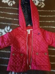 Курточка червона, від 9-24 міс.
