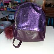 Рюкзак с пайетками фиолетовый, 28х24