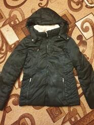 Зимняя куртка на меху для девочки 10-12 лет