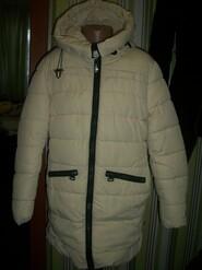 зимнее теплое пальто куртка на рост 134см helida