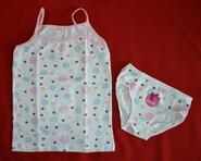 Комплект нижнего белья для девочки в горошки (Donella, Турция)