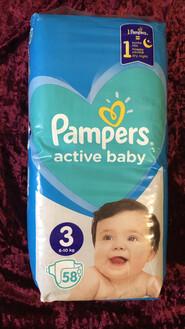 Памперс active baby 3а