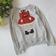 свитерок с помощницей Санты  новогодний свитер с пайетками миссис Клаус