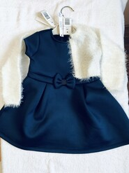 Синее нарядное платья и белое болеро, Idexe