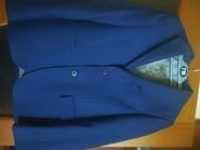 Стильный пиджак тёмно-синий на очень красивой подкладке