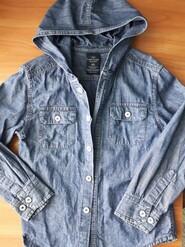 Рубашка джинсовая с капюшоном Faded Glory