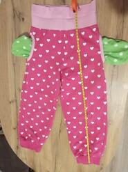 Рожеві бавовняні штани з начосом, 3-4 роки