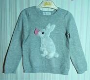 Серый тонкий джемпер с кроликом H&M р. 2-4 года