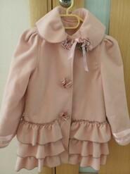 Пальто Zara kids, розовое, р. 122