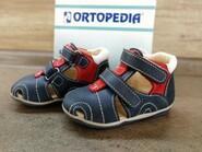 Сандалии Ортопедические Ortopedia 717 для мальчиков сине-красные, нубук. Размер 19