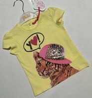 Желтая футболка с принтом Chicco р. 12 мес