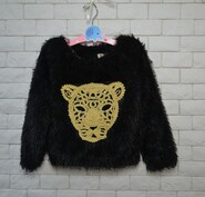 Теплый свитер травка на меху для девочки