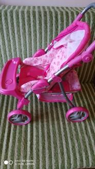 Коляска для кукол розовая в хорошем состоянии