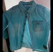Джинсовая рубашка мальчику