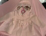 Розовое пальто фирмы Monsoon на 1-1,5года