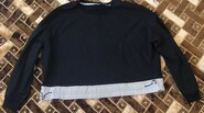 Чёрная кофта с полосками и резинкой