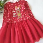 нарядное новогоднее платье с оленем