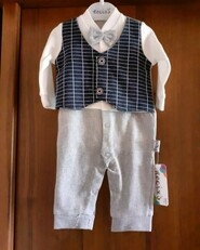 Цельный костюм на мальчика 0-3 м