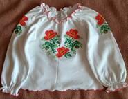 Вышиванка на 3-4 года блуза кофта вишиванка