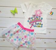 Комплект на День рождения футболка и фатиновая юбка Туту 3Т