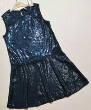 Нарядное синее платье в пайетки Idexe р. 9-10 лет