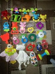 Лот игрушек пакет погремушки, грызуны для детей до года