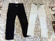 Почти новые джинсы белые и чёрные 110,116 H&M