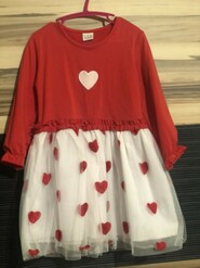 Красное платье нарядное с фатиновой юбкой