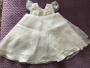 Атласное нарядное платье 0-3 месяца