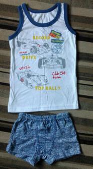 Комплект майка+трусики для мальчика. Размер 104-56-51