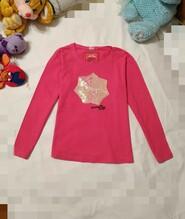 Стильная блузочка на девочку 9-10 лет. Красивая отделка. Трикотажная
