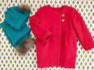 Червоне пальто на зріст 98