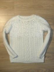 Теплый вязаный свитер на 8-9лет