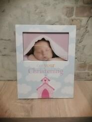 Рамка для фото крещения ребенка 10х15 см