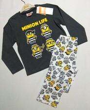 Серо-белая пижама с миньйонами Despicable Me р. 104