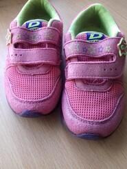 Розовые кроссовки для девочки
