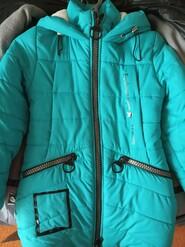 Блакитна куртка зимова