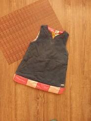 18мес. Сарафан,платье,по спинке пуговицы,яркая подкладка,dior baby