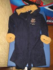 Теплый халат на мальчика 122-128 см