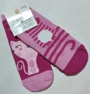 Розовые махровые носки с котиками Fagottino р. 12-18 мес
