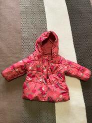 Розовая куртка с цветочным принтом Benetton