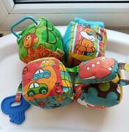 Мягкие развивающие кубики infantino