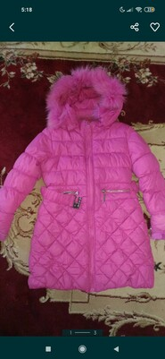 Зимове пальто на дівчинку 122 ріст