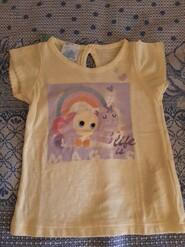 Жёлтая футболка с рисунком для девочки