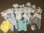 Пакет вещей для новорожденного. Набір речей для малюка 56 розмір.