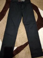 Чорні котонові штани